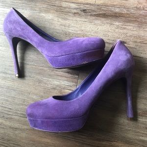 YSL Purple Suede Authentic Heels Size 9. 39